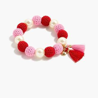 J.Crew Crochet bead bracelet