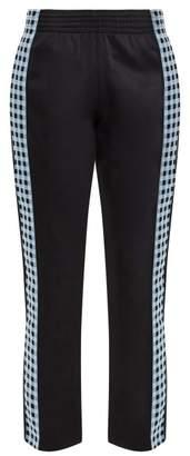 Wales Bonner Checked Seam Track Pants - Womens - Black Blue