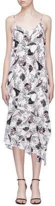 Equipment 'Jada' tropical print asymmetric silk crepe dress