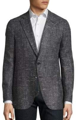 Isaia Regular-Fit Textured Wool Jacket