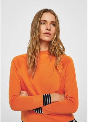 MANGO High Collar Sweater - Orange