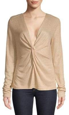 Lord & Taylor Twisted Long-Sleeve Top