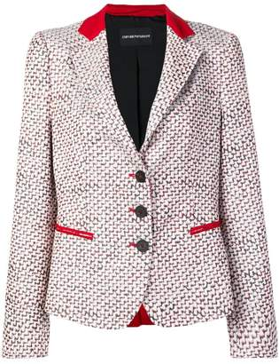 Emporio Armani patterned blazer jacket