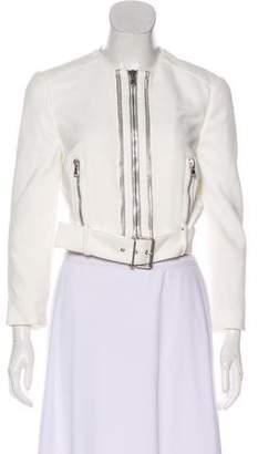 Alexander McQueen Zip-Accented Cropped Jacket