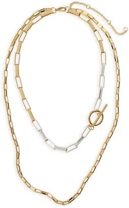 BP Layered Rectangular Chain Necklace