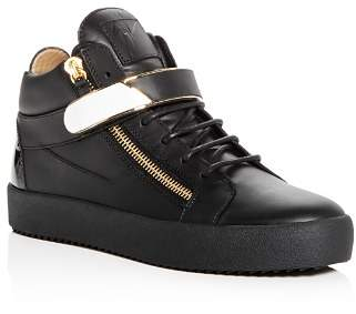 Giuseppe Zanotti Men's Leather Mid Top Sneakers
