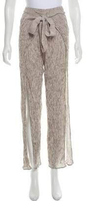 Faithfull The Brand Crinkled Wide-Leg Pants