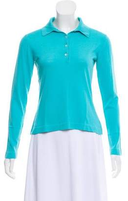 Malo Turquoise Collared Top