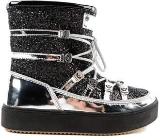 Chiara Ferragni Glittered Lace-up Boots