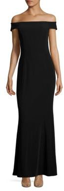 Laundry by Shelli Segal Off-The-Shoulder Crisscross Gown $295 thestylecure.com