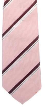 Louis Vuitton Logo Striped Silk Tie