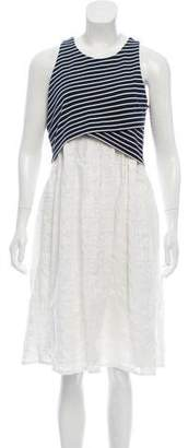 Thakoon Sleeveless Printed Midi Dress