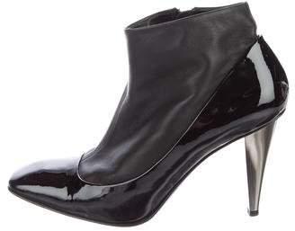 Giuseppe Zanotti Patent Leather Square-Toe Booties
