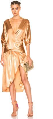 Zeynep Arcay Silk Wrap Dress
