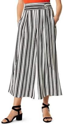 Karen Millen Belt Detail Striped Culottes