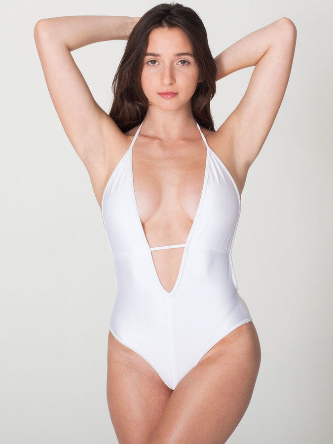 American Apparel Nylon Tricot Maillot-V Swimsuit