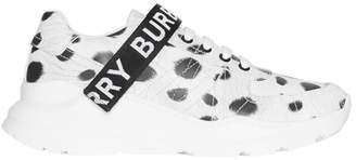 Burberry Animal Print Leather Sneakers