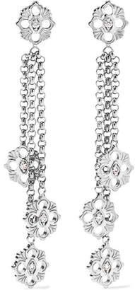 Buccellati Opera 18-karat White Gold Diamond Earrings - one size