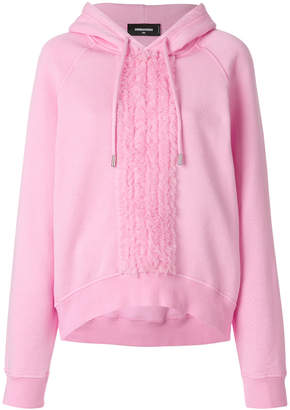DSQUARED2 ruffle detail hoodie