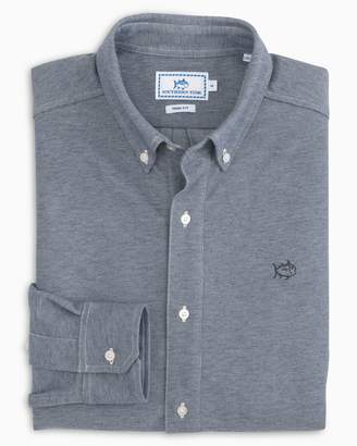 Southern Tide Heather Traveler Oxford Pique Sport Shirt