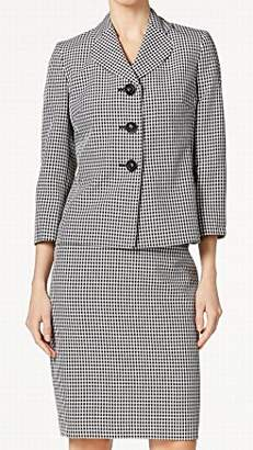 Le Suit Women's Gingham 3 Button Skirt
