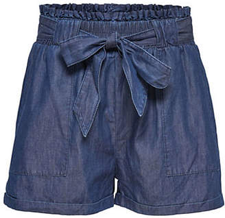 Only Loose Denim Paperbag Shorts