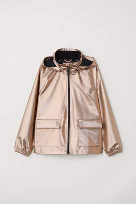 H&M Shimmering Rain Jacket - Orange