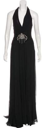 Mikael Aghal Sleeveless Silk Gown