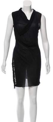 Edun Fringe-Trimmed Mini Dress