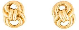 Verdura 18K Figure Eight Clip-On Earrings