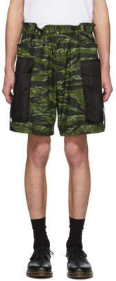 DSQUARED2 Green Camo Dan Elastic Boxer Cargo Shorts