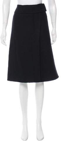 prada Prada Wool Knee-Length Skirt