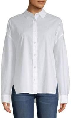 Vince Classic Cotton Button-Down Shirt