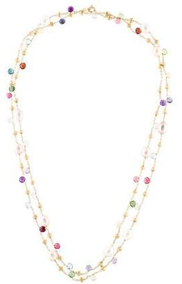 Marco Bicego 18K Multistone & Pearl Paradise Station Necklace