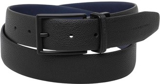 French Connection Mens Reversible Belt Black/Marine