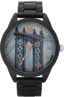 Zoo York Mens Black And Rose Gold Tone Bracelet Watch