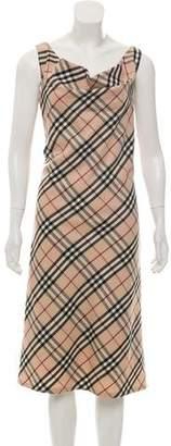 Burberry Wool Super Nova Check Dress