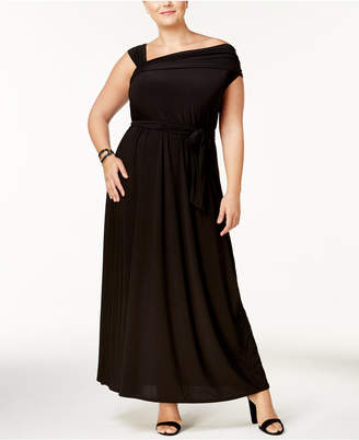 Love Squared Trendy Plus Size One-Shoulder Maxi Dress