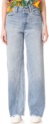 Levi's Altered Wide Leg Jeans $128 thestylecure.com