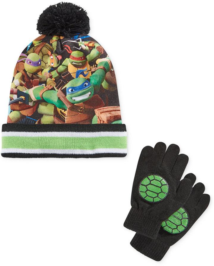 Berkshire Boys' or Little Boys' 2-Pc. Teenage Mutant Ninja Turtles Hat & Gloves Set