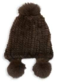 Max Mara Abissi Dyed Mink Hat