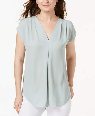 INC International Concepts I.n.c. Petite Pleated Top, Created for Macy's