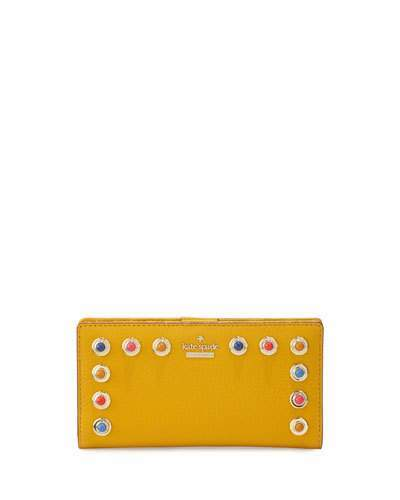 Kate Spade Kate Spade New York Devoe Street Stacy Leather Wallet, Yellow
