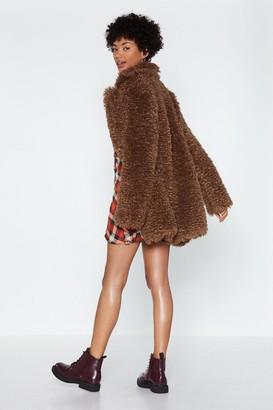 Nasty Gal Can You Feel It Faux Fur Coat