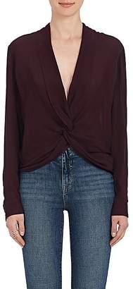 L'Agence Women's Mariposa Twist Silk Georgette Blouse