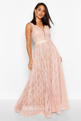 boohoo Boutique Ali All Lace Plunge Neck Maxi Dress $80 thestylecure.com