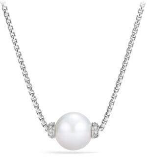 David Yurman Solari Pearl& Diamond Pendant Necklace
