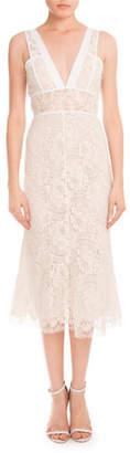 Victoria Beckham Lace Sleeveless A-Line Dress