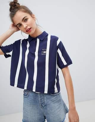 Pull&Bear stripe polo tshirt
