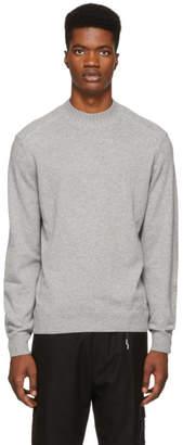 BOSS Grey Silk and Cashmere Eduardo Turtleneck